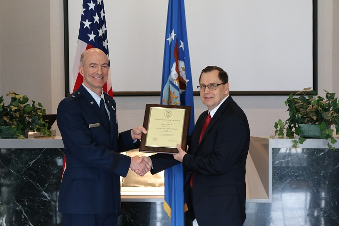 Arnold hosts ceremony to honor Mehalic for Senior Executive Service appointment