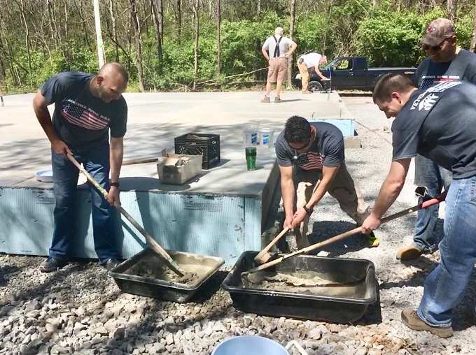 Arnold AFB Company Grade Officer Council assists Habitat for Humanity during Veterans Build