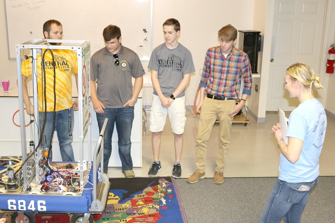 Robotics team sponsored by Arnold STEM competes at World Championship